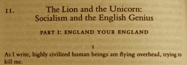 Orwell Lion and Unicorn
