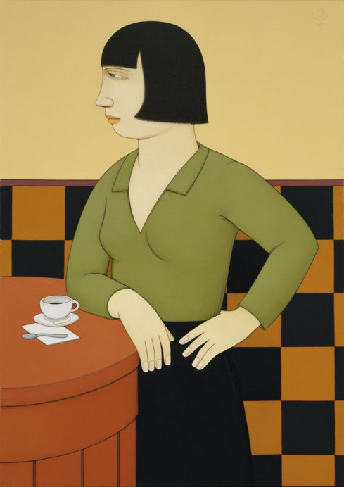 Andrew-Stevovich_oil-painting_Nadine-with-Espresso_1998