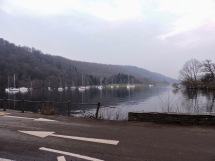 Windermere ferry landing at Sawrey (west shore): February 2019