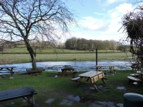 The Eagle and Child's beer garden is usually a long way above the Kent
