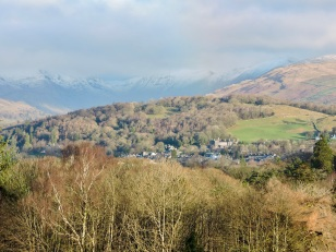 Windermere village from Brant Fell (Christmas Eve)